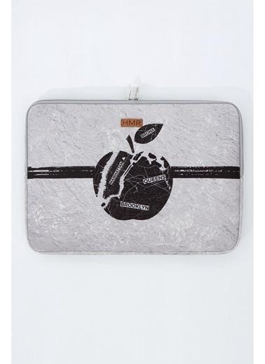 Hamur Easy Case 14 inç Laptop Çantası Notebook Kılıfı Apple New Gri